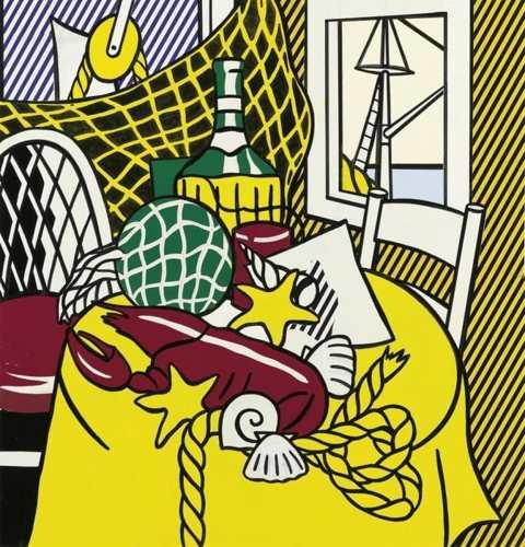 Roy Lichtenstein-Collage for Still Life with Lobster-1973