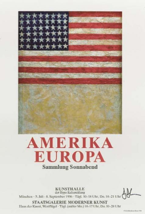 Jasper Johns-Three Posters: (i) Flag; (ii) Souvenier; (iii) And Land's End-1996