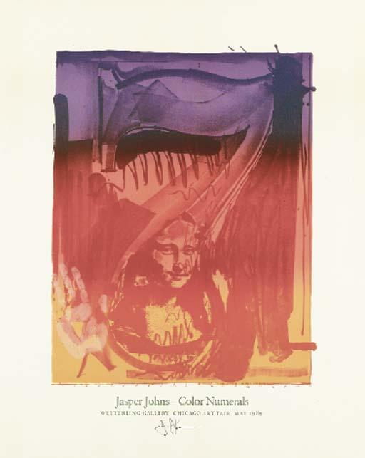 Jasper Johns-Three Posters: (i) Figure 7; (ii) Figure 6; (iii) Savarin-1989