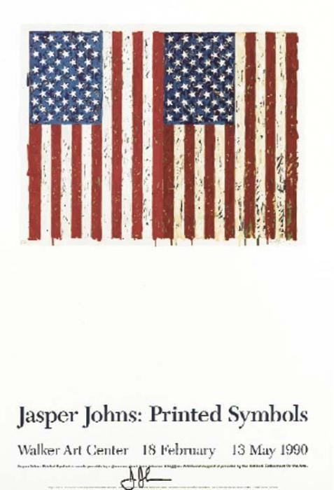 Jasper Johns-(i) Flags I; (ii) Corpse; (iii) Mirror; (iv) Savarin-1997