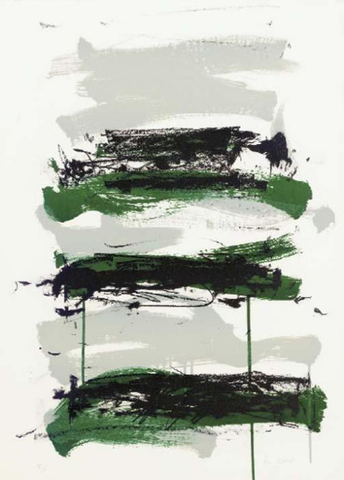 Joan Mitchell-Fields I; Fields II; Fields III-1990
