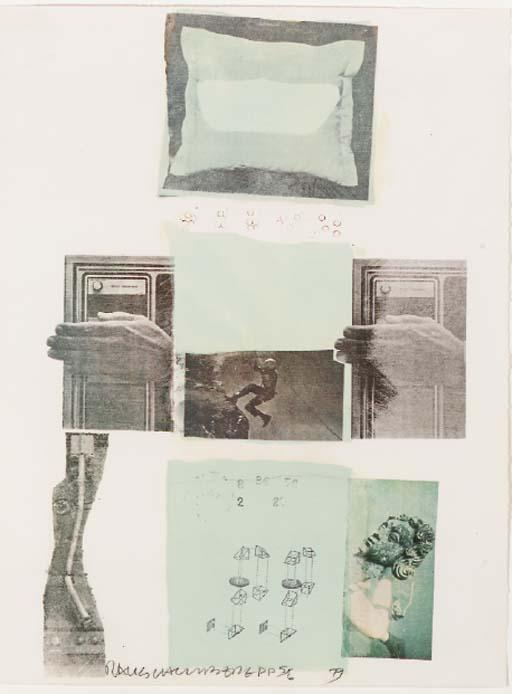 Robert Rauschenberg-Robert Rauschenberg - Two Reasons Birds Sing (From Suite Of Nine Prints)-1979