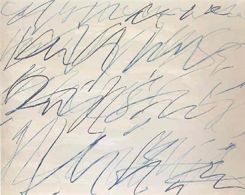 Cy Twombly-Untitled, Roman Note No.10-1970