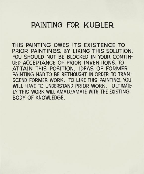 John Baldessari-Painting for Kubler-1968