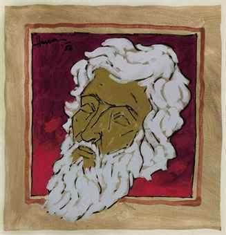 Maqbool Fida Husain-Untitled (Self-Portrait)-1986