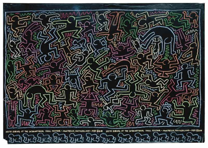 Keith Haring-Keith Haring - Untitled (International Jazz Festival Montreux)-1983
