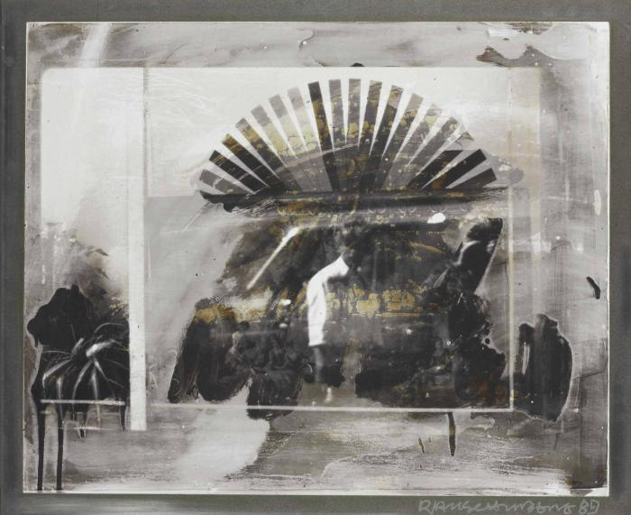 Robert Rauschenberg-Robert Rauschenberg - From the Bleacher Series: Fan and Man I-1989