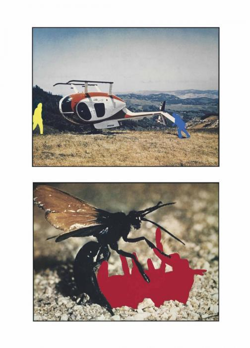 John Baldessari-Helicopter and Insects (One Red), Version 1-1990