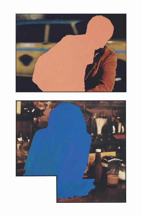 John Baldessari-Figure at Rest (Blue/Interior); Figure with Burden (Flesh/Exterior)-1990