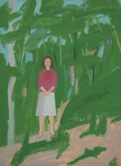 Alex Katz-Ada in Woods-1960