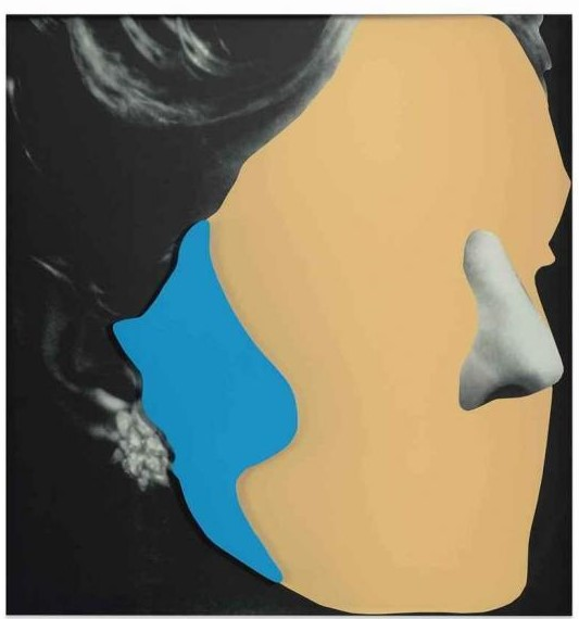 John Baldessari-Noses and Ears, Etc: Earring and Head (with Nose and Ear)-2006