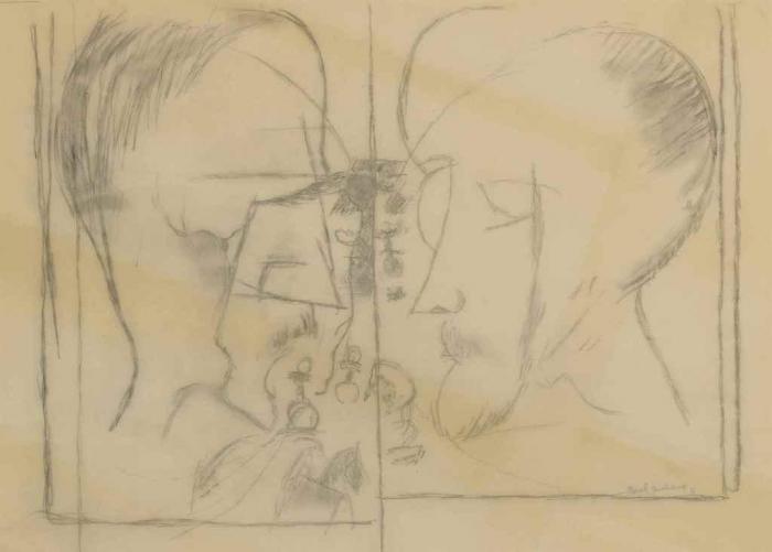 Marcel Duchamp-Les joueurs d'echecs, after a drawing from 1911-1964