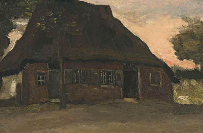 Vincent van Gogh-Boerderij-1885