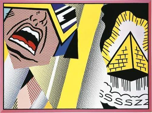 Roy Lichtenstein-Reflections: Mystical Painting-1989
