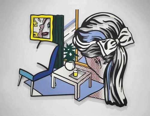 Roy Lichtenstein-Woman Contemplating Yellow Cup-1995