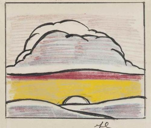 Roy Lichtenstein-Landscape with Setting Sun-1964