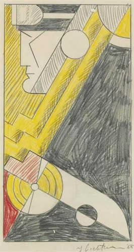 Roy Lichtenstein-Study for Little Aviation-1968
