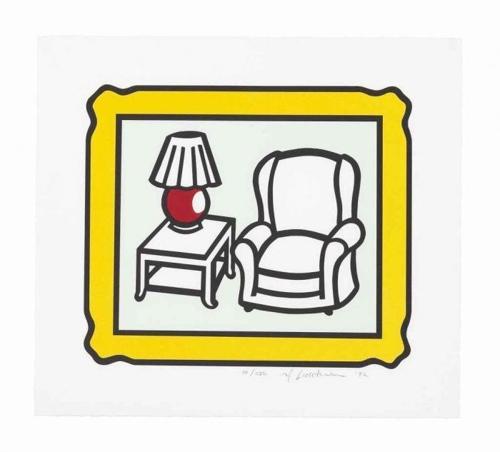 Roy Lichtenstein-Red Lamp (C. 279)-1992