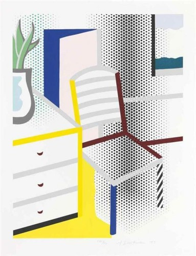 Roy Lichtenstein-Interior with Chair, from Leo Castelli 90th Birthday Portfolio-1997