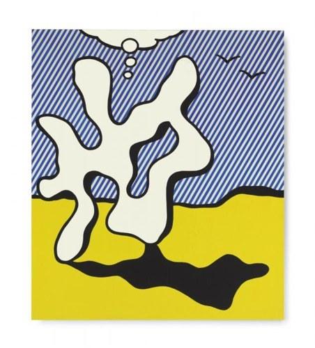 Roy Lichtenstein-Figure in Landscape-1977