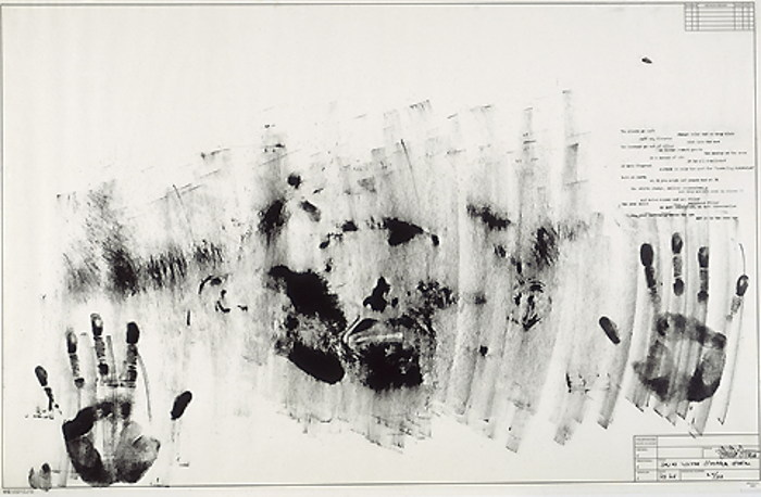 Jasper Johns-Skin with O'Hara Poem-1965