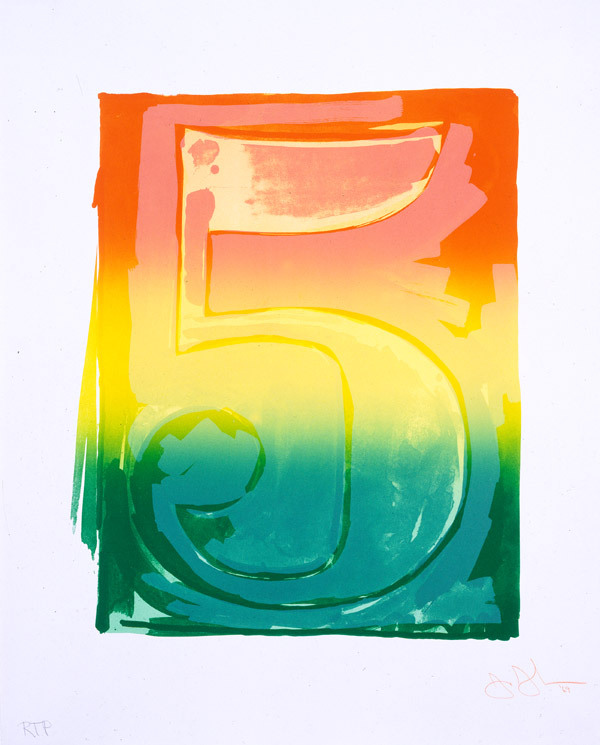 Jasper Johns-Figure 5, from Color Numerals-1969