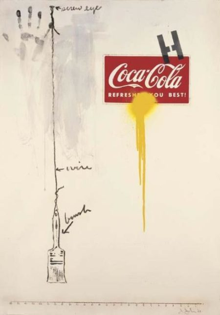 Jasper Johns-Untitled, Coca-Cola-1963