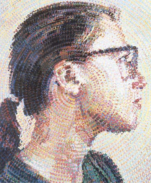 Chuck Close-Cindy II / A Portrait of Cindy Sherman-1988