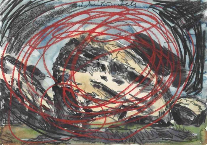 Anselm Kiefer-Brunhildes Fels (Brunhildes Rock)-1978