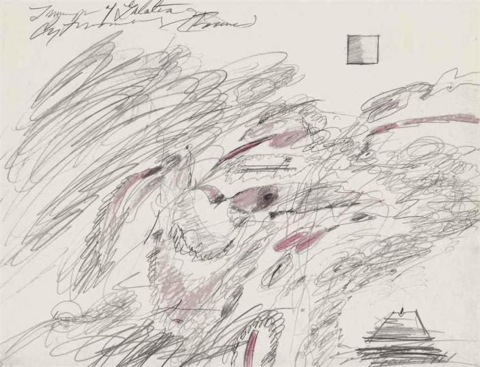 Cy Twombly-Triumph of Galatea-1961