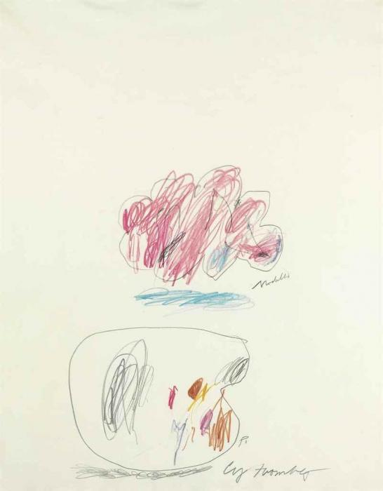 Cy Twombly-Untitled (Modella)-1966
