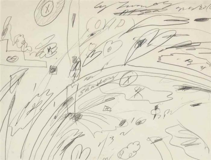 Cy Twombly-Ovid At Sea-1960