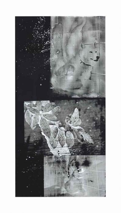 Robert Rauschenberg-Robert Rauschenberg - Wolf Wood (Urban Bourbon series)-1991