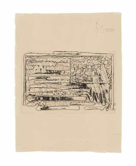Jasper Johns-1St Etchings, 2nd State: One Print-1969