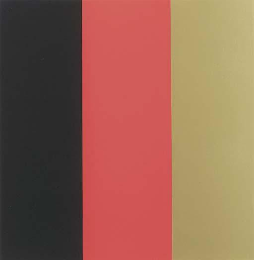 Gerhard Richter-Schwarz, Rot, Gold III (Black, Red, Gold III)-1999