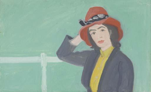 Alex Katz-Ada with Red Hat-1962