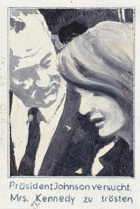 Gerhard Richter-President Johnson consoles Mrs Kennedy-1963