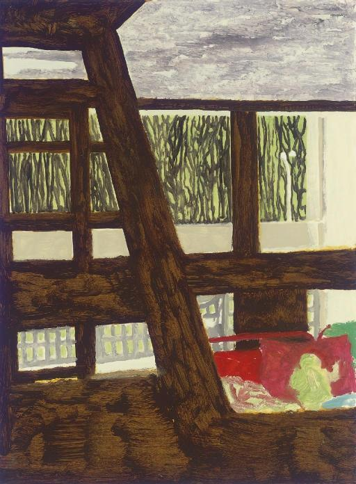 Peter Doig-Briey Interior 2 (study For Concrete Cabin)-1999