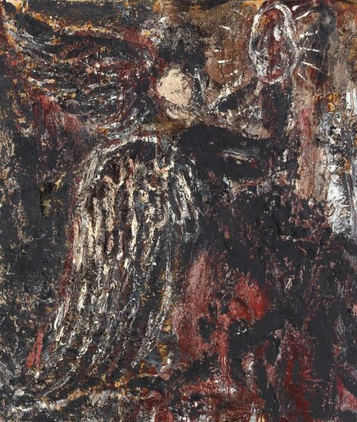 Anselm Kiefer-Engel mit Palette-1978