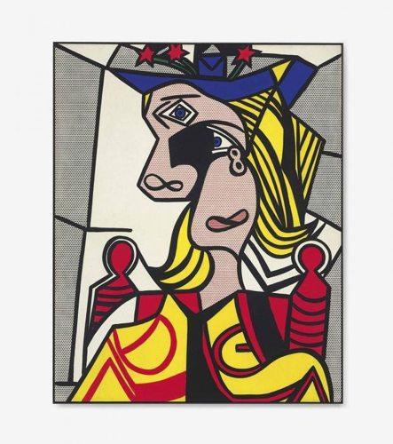 Roy Lichtenstein-Woman with Flowered Hat-1963