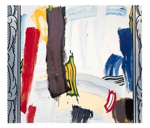 Roy Lichtenstein-Painting: Silver frame-1984