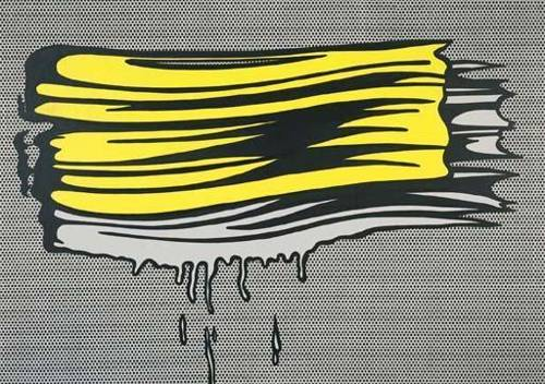 Roy Lichtenstein-Yellow and white Brushstrokes-1965
