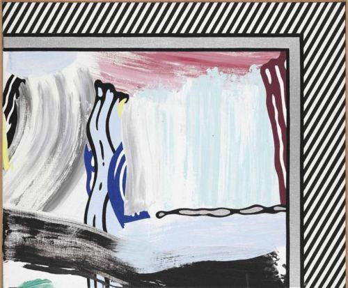 Roy Lichtenstein-Paintings : Alizarin Brushstroke-1984