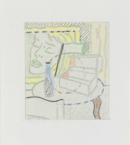 Roy Lichtenstein-Drawing for Interior with Painting and Still Life-1997