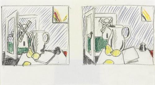 Roy Lichtenstein-Still Life with Windmill-1973