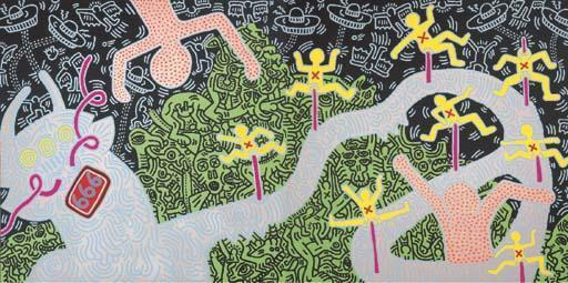 Keith Haring-Keith Haring - Heaven and Hell-1984