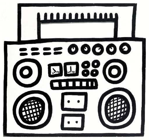 Keith Haring-Keith Haring - Boombox-1984