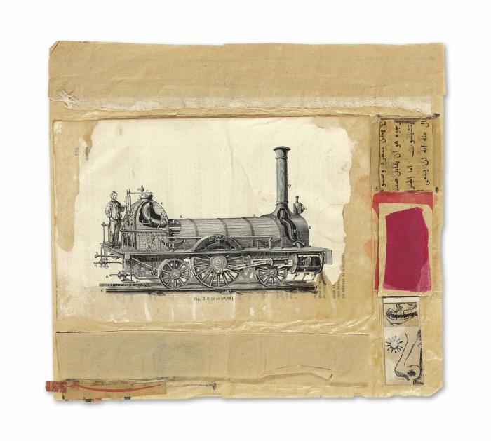 Robert Rauschenberg-Robert Rauschenberg - Untitled (Locomotive)-1952