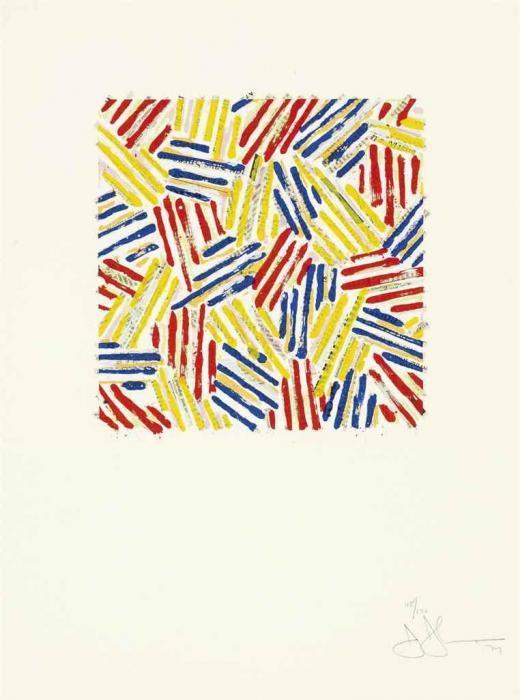 Jasper Johns-Untitled (ULAE 186)-1977