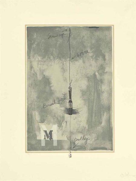 Jasper Johns-M-1972